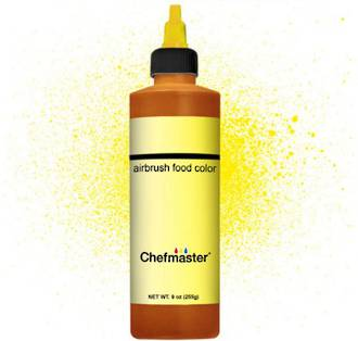 Chefmaster Airbrush Liquid Brite Yellow 9oz