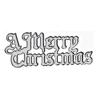 A Merry Christmas - Motto, Silver 76mm