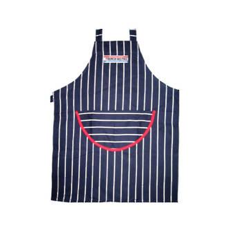 Butchers Stripe Apron Navy/White Stripe
