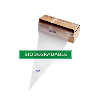 """18"""" (460mm) Disposable Non Slip Clear Bags (100)"""