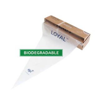 """22"""" (550mm) Disposable Non Slip Clear Bags (100) - SOLD OUT"""