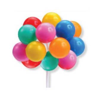 Balloons Pick Multi-Colour 80mm (12)