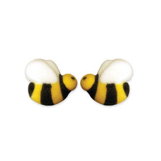 Bumble Bees Dec-on Sugar Decorations 25mm (Box of 176) - SOLD OUT