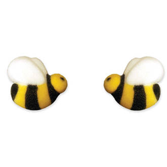 Bumble Bees Dec-on Sugar Decorations 25mm (Box of 176)