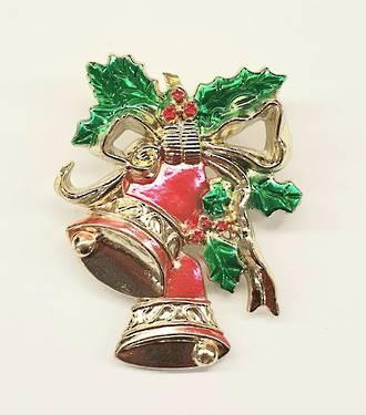 Metallised Christmas Bells ,50mm -