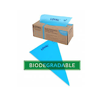 "12"" (300mm) Disposable Non Slip Blue Bags (100)"