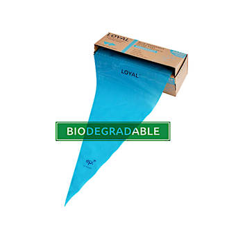 "18"" (460mm) Disposable Non Slip Blue Bags (100)"