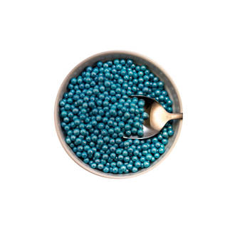 Sugar Pearls 2-3mm -Blue Steel (1kg bag)