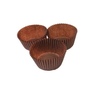 Cupcake Paper Cases Brown 44x30mm (500)