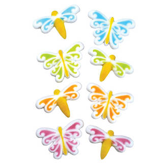 Butterfly & Dragonfly Assortment Dec-on Sugar Decorations 44mm (Box of 80) - SOLD OUT