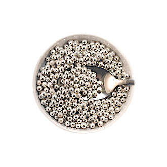 Cachous Metallic Silver 5mm (1kg bag)