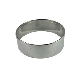 Stainless Steel Cake Rings 75x50mm deep, Stainless steel - made to order