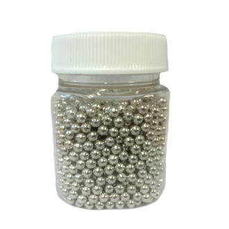 Cachous Metallic Silver 5mm (150g Jar) - DELETED WHEN SOLD