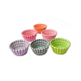Large Muffin Paper Cases Gingham Assorted 55x36mm (500)