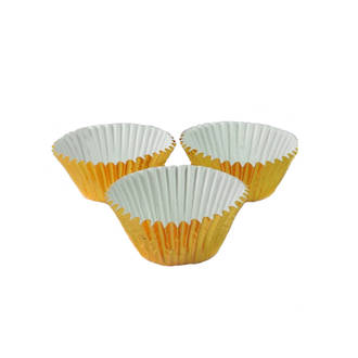 Foil Gold Paper Cups 30x21mm (500)