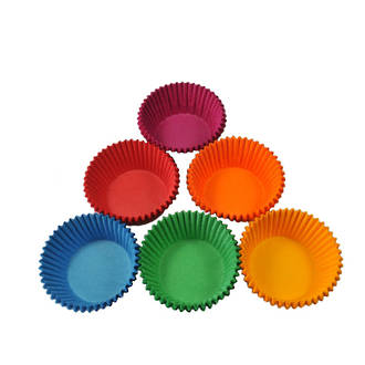 Texas Muffin Paper Cases Assorted Colours 65x44mm (500)
