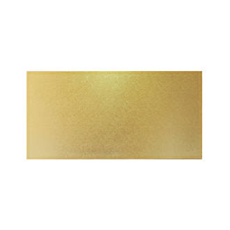 """Rectangle MDF Board, 16"""" x 8"""", Gold"""