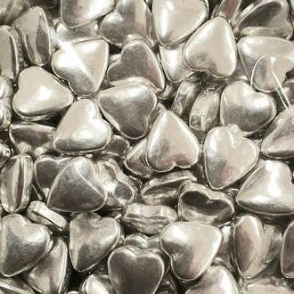 Tablet Hearts Silver 10mm (1kg bag) - SOLD OUT