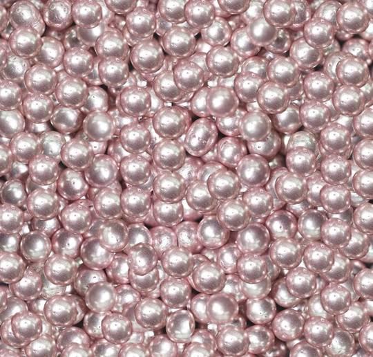 Cachous Metallic Pink  4mm (150g Jar)