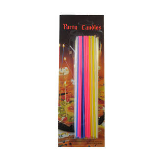 Candle Slim Multi Colours 17cm (24)