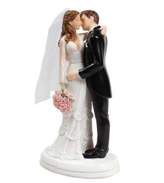 Bride/Groom Kissing White 150mm
