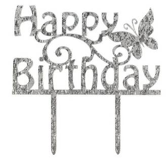Topper Happy Birthday Butterfly (Pic)