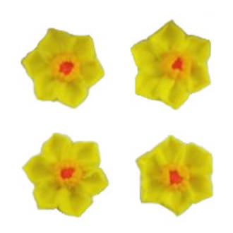 Daffodil Flowers, 35mm, 2D Icing (Retail Box of 8)