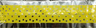 Cake Band Star Yellow/Silver 63mm (1m) (sold out)