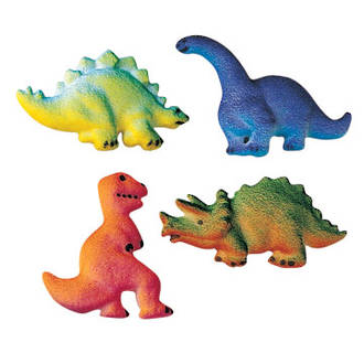 Dinosaur Assortment Dec-on Sugar Decorations 57mm (Box of 120)