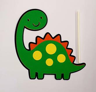 Dinosaur - Green Cake Topper (Card 100x105mm)