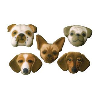 Small Dog Assortment Dec-on Sugar Decorations 40mm (70)