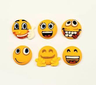 Emoji Faces - Happy Faces 20mm (30)