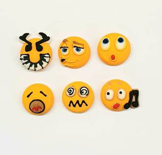 Emoji Faces - Musical 20mm (30)