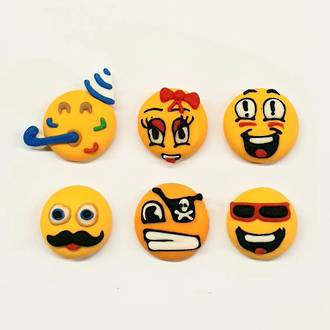Emoji Faces - Party 20mm (30) - SOLD OUT
