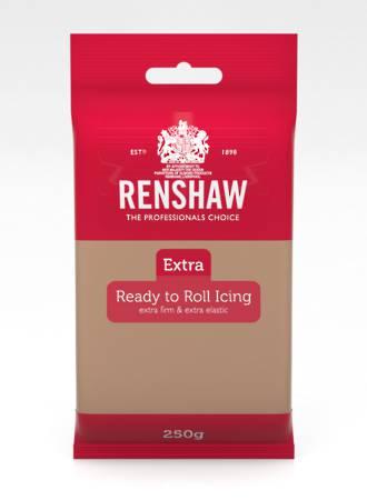 Renshaw: Extra- Teddy Bear Brown Icing 250g (12)