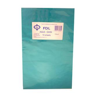 Confectionary Foil - Aqua 10 Pack