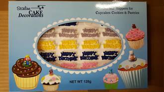 Edible Happy Birthday Mottos- Asst'd Box of 42