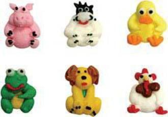 Icing Farm Animals 25mm (80)