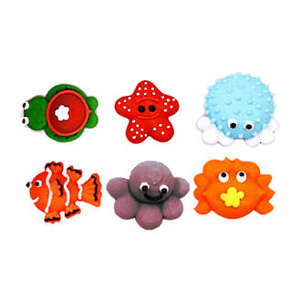 Icing Sea Creatures, 25mm (Box of 64) - Fish, Crab, Octopus, Turtle