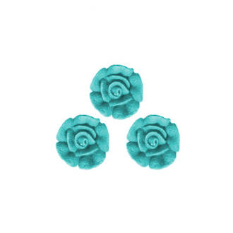 Icing Blue Roses 10mm, packet of 24 - DELETE WHEN SOLD
