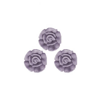 Icing Plum Frost Roses 10mm, packet of 24 - DELETE WHEN SOLD