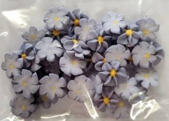 Icing Plum Frost Drop Flowers 18mm (Packet of 50) - DELETE WHEN SOLD