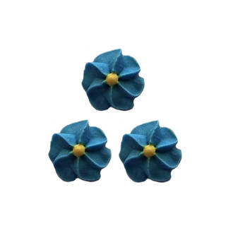Icing Blue Drop Flowers 18mm (Packet of 50)