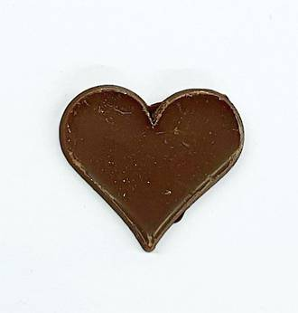 Chocolate Dark Plain Heart - 30mm (30PK) - SOLD OUT