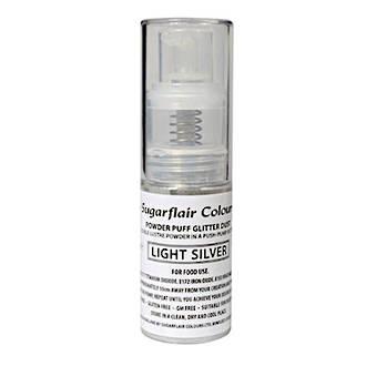 Sugarflair Edible Light Silver Lustre (Pump) 10gm