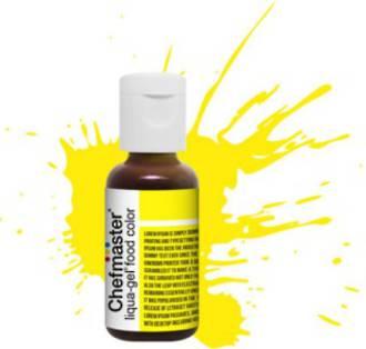 Chefmaster Liqua Gel Neon Brite Yellow .70oz Bottle(SOLD OUT)