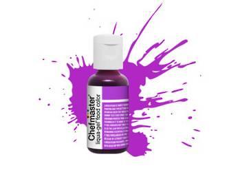 Chefmaster Liqua Gel Neon Brite Purple .70oz Bottle