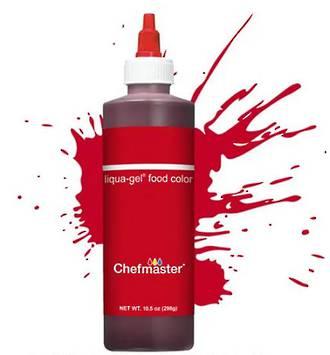 Chefmaster Liqua-Gel Colour Red Red 10.5oz
