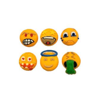 Emoji Faces - Funny Faces 20mm (30)