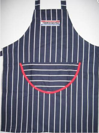 Butchers Stripe Apron Navy/White Stripe
